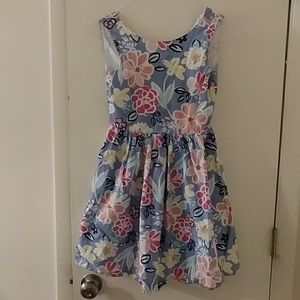 Periwinkle blue floral party dress
